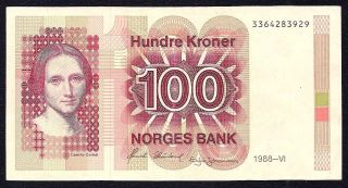 Normay 100 Kroner 1988 P - 43 Xf photo