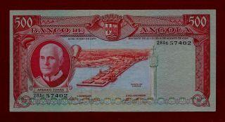 Portugal Angola 500 Escudos 1970 P - 97 Ef+ Rare (west Africa Congo Mali Zaire) photo