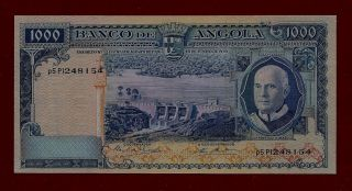 Portugal Angola 1000 Escudos 1970 P - 98 Vf+ (west Africa Mali Guinea Togo) photo