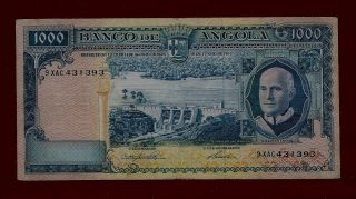 Portugal Angola 1000 Escudos 1962 P - 96 Rare Date See Scan (west Africa Mali) photo