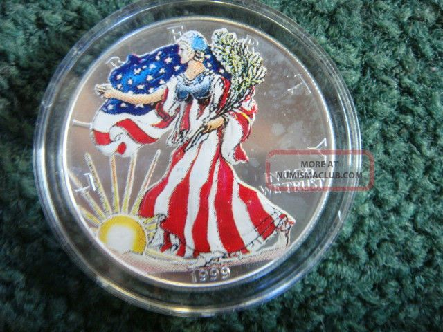 1999 Colorized American Eagle Walking Liberty Silver