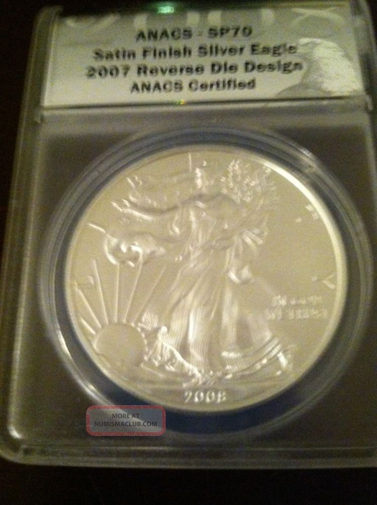 2008 W Silver Eagle Reverse Of 2007 Quot U Quot Satin Finish