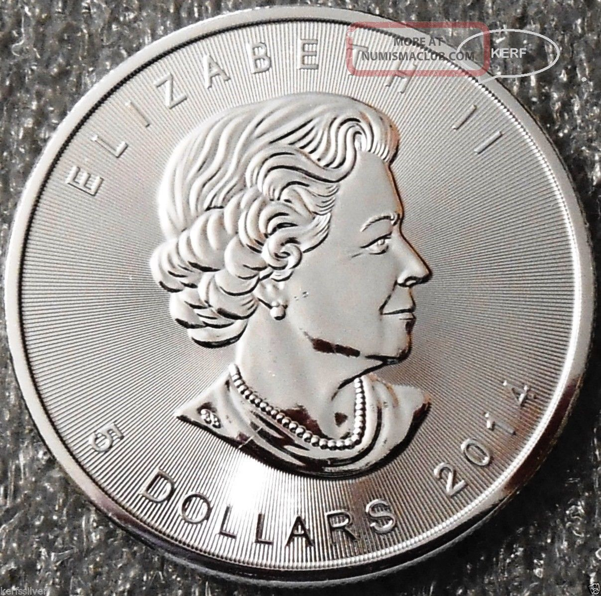 2014 Canadian Maple Leaf Silver Coin Bu 1 Oz 9999 Fine