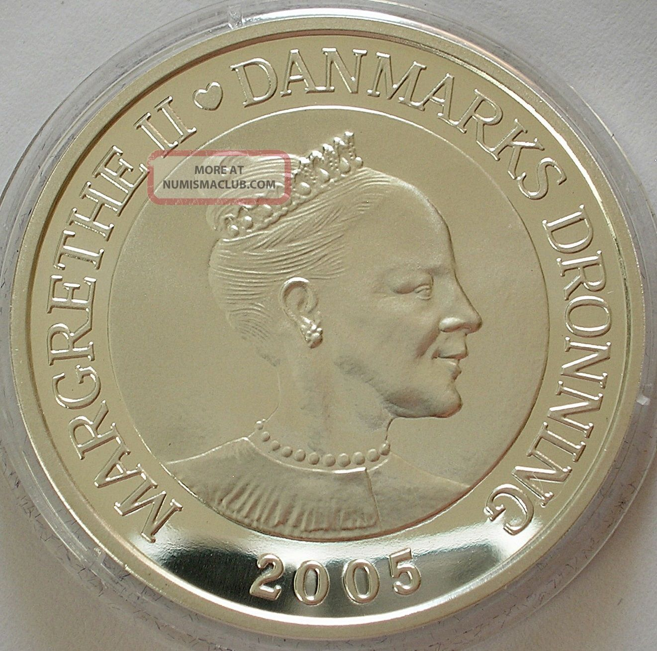 2005 Denmark 1oz Silver Proof 10 Kroner Coin Hans C