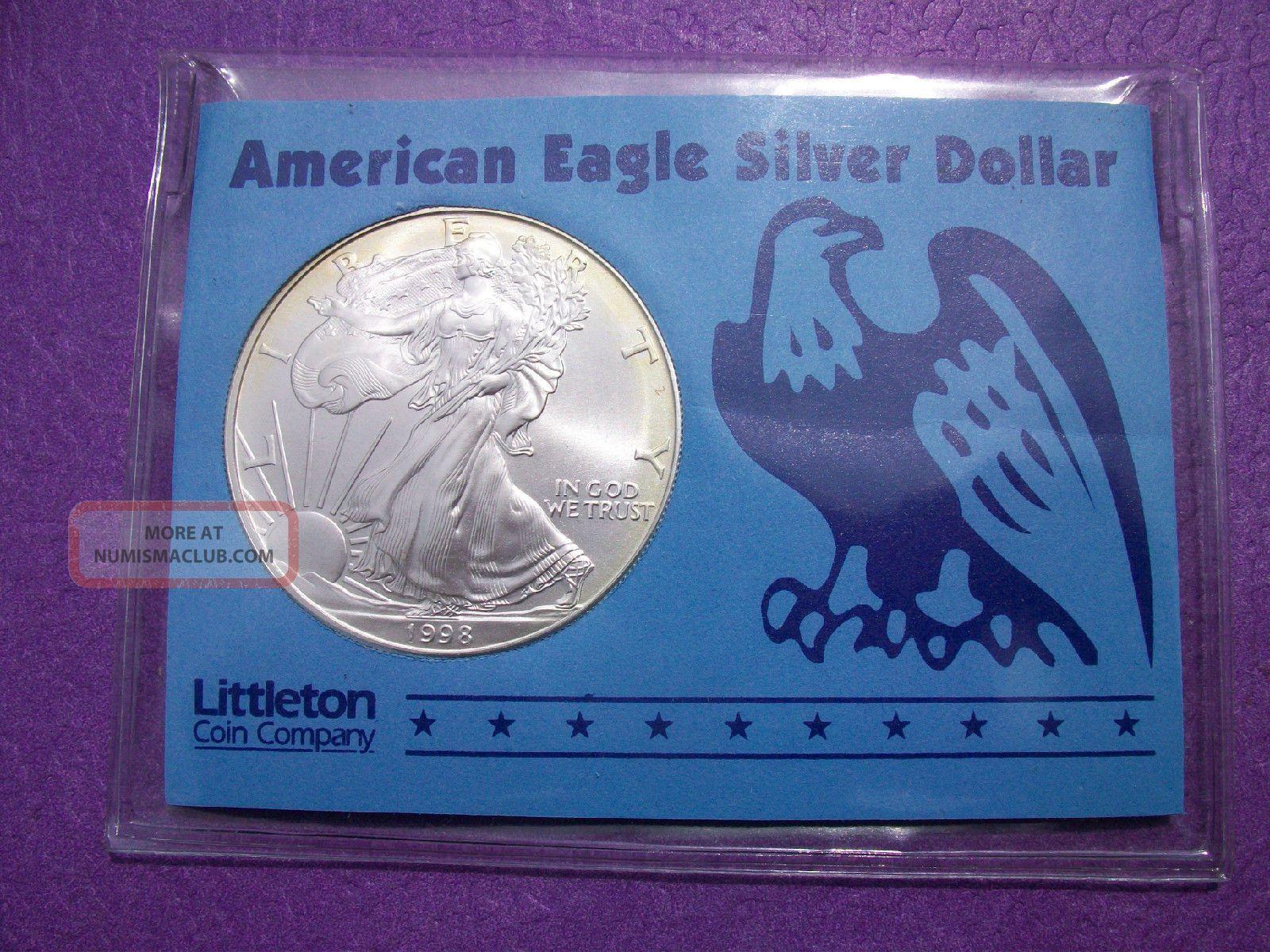 1998 American Eagle Silver Dollar 1 Oz 999 Pure Silver