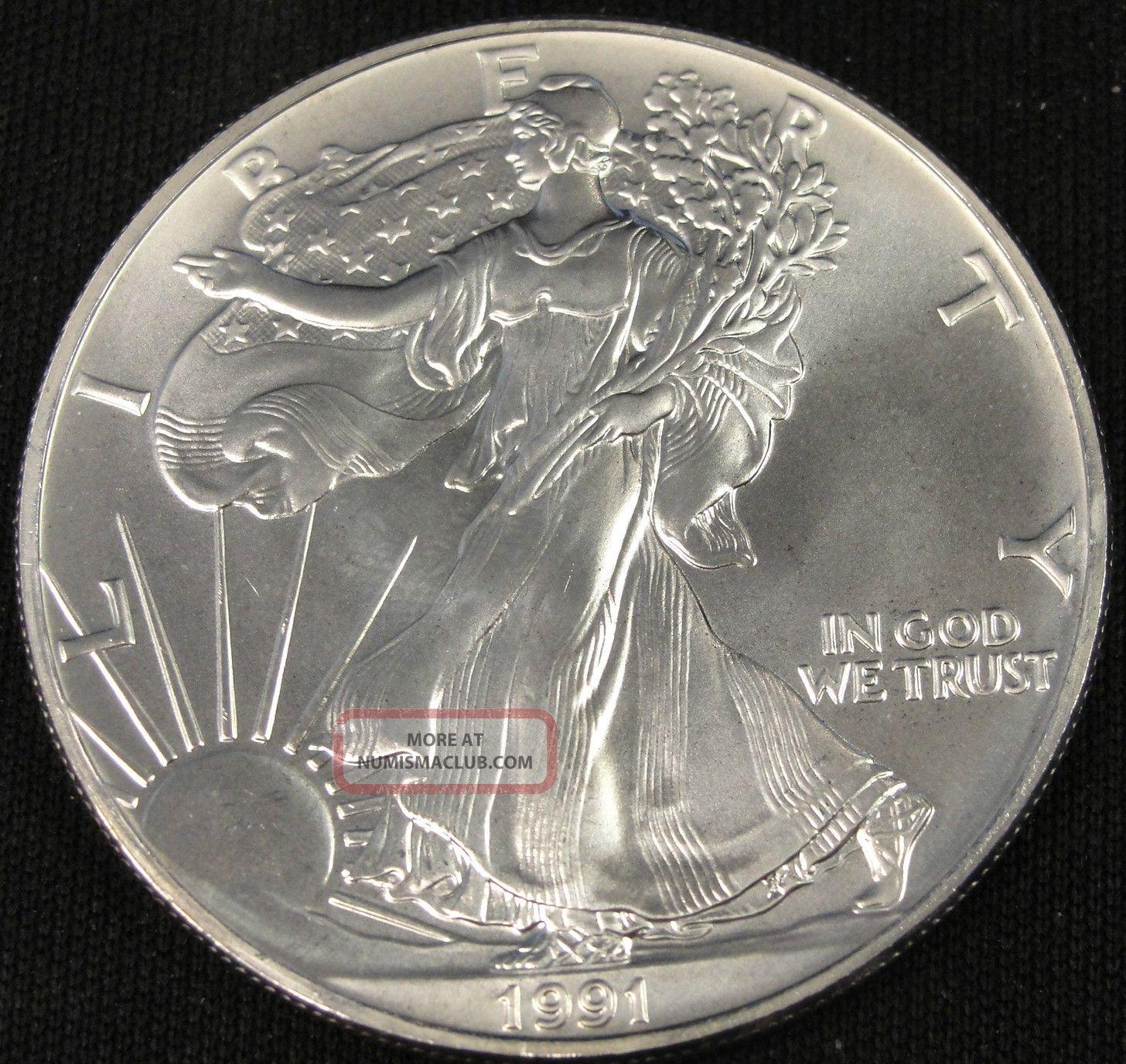 1991 American Silver Eagle Bullion Coin Key Date Choice