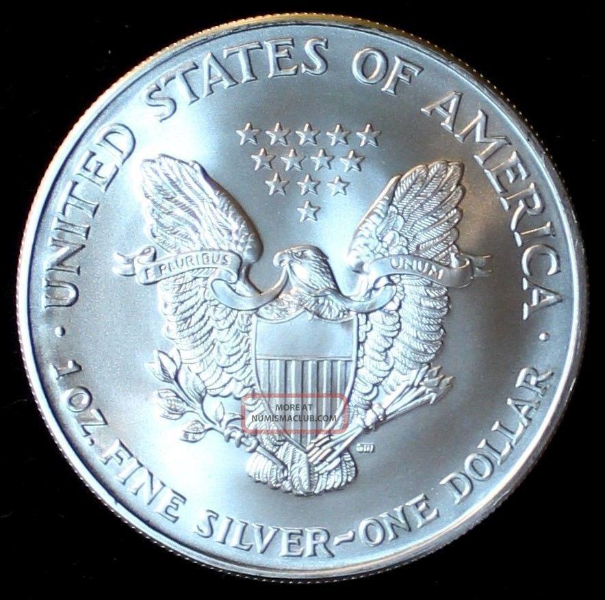 2002 1 Silver American Eagle 1 Ounce Fine 999 Silver