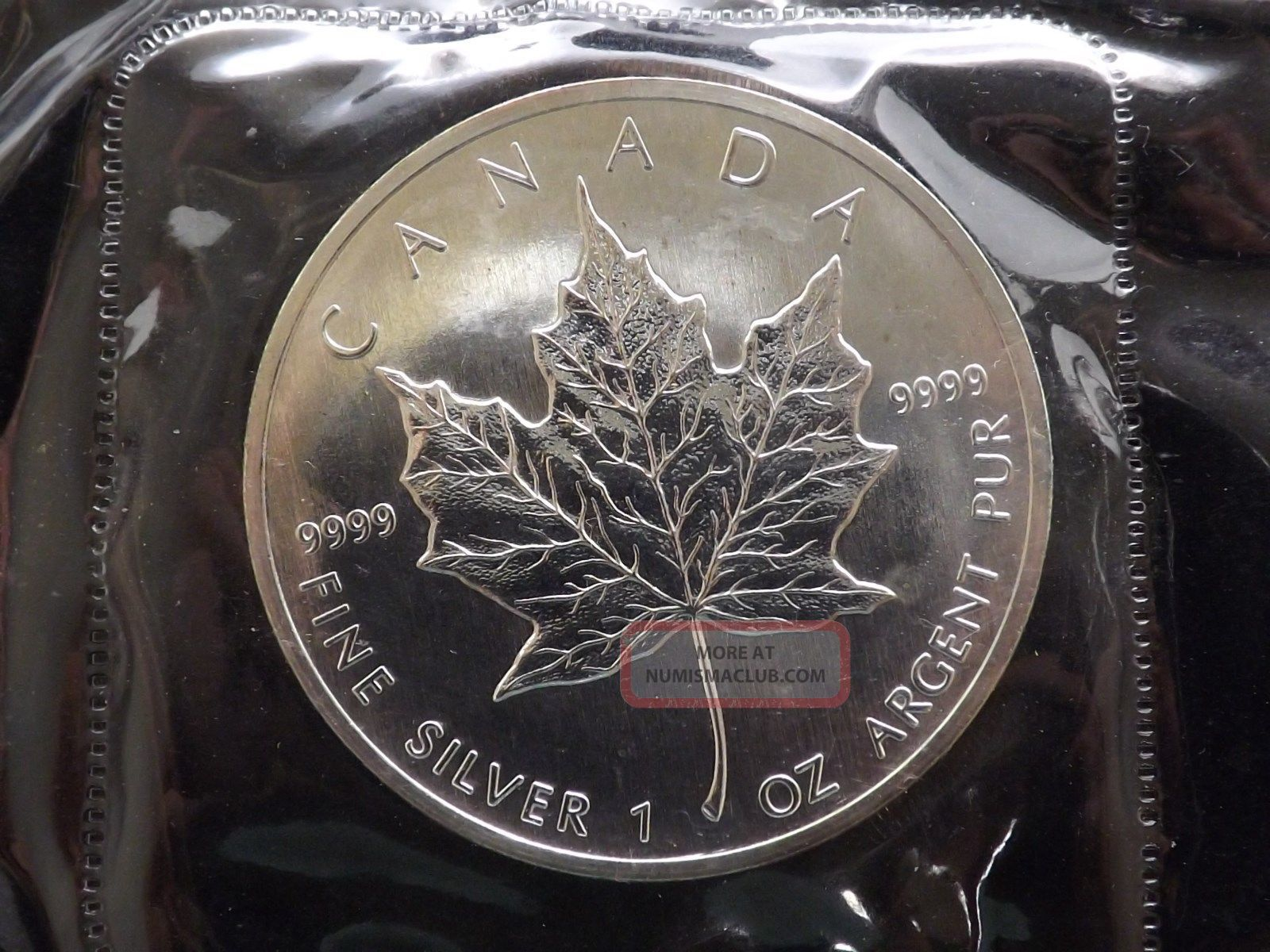 1988 Canadian Silver Maple Leaf Proof Like Rcm 9999