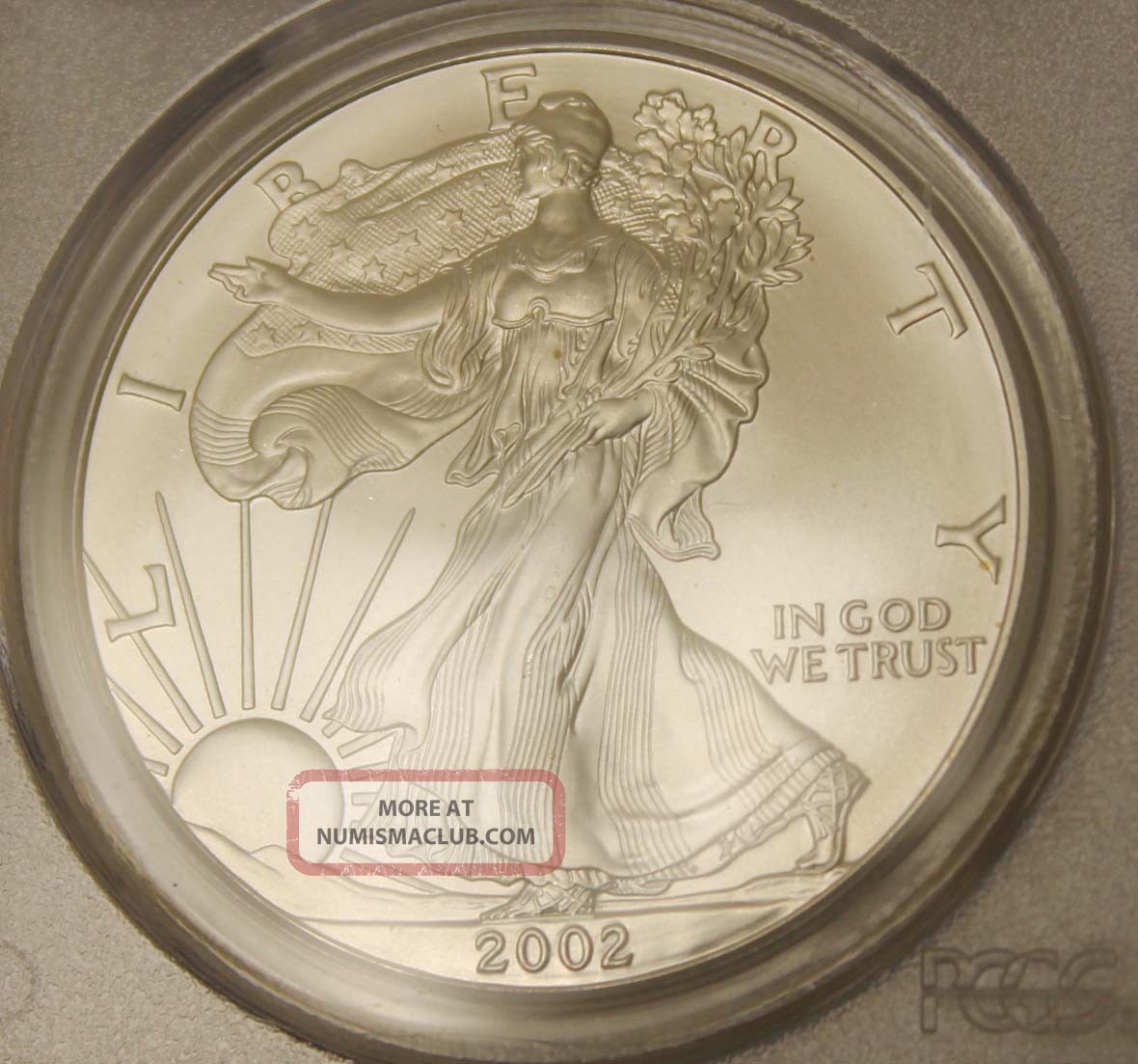 2002 United States Eagle 1 Coin Pcgs Grade Ms69