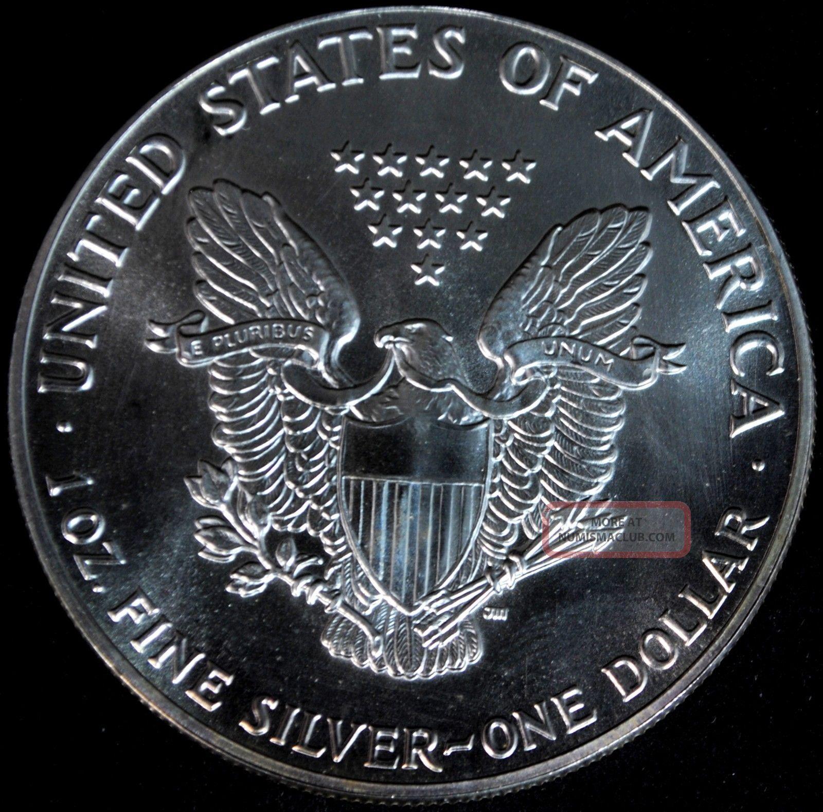 1987 Silver American Eagle 1 One Dollar Coin 1 Troy Oz