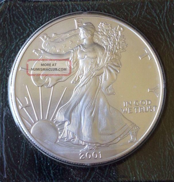 2001 Silver American Eagle Dollar 999 Silver 1 Troy Oz In