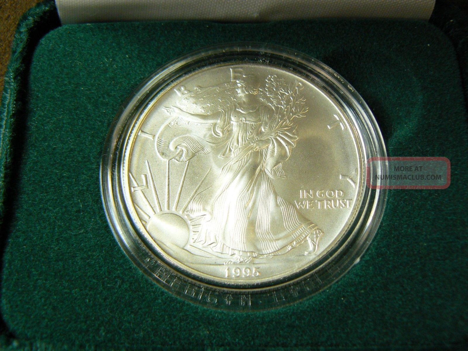 1995 American Silver Eagle 1 Oz 999 One Dollar U S Coin