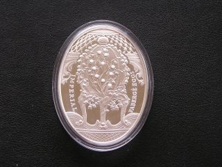 Niue Islands - 2010 - 2$ - Silver Imperial Fabergé Egg - Lily Of The Valley - 56.  56g photo