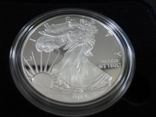 2012 W American Eagle Silver Proof 1 Oz.  999 Pure Silver And photo
