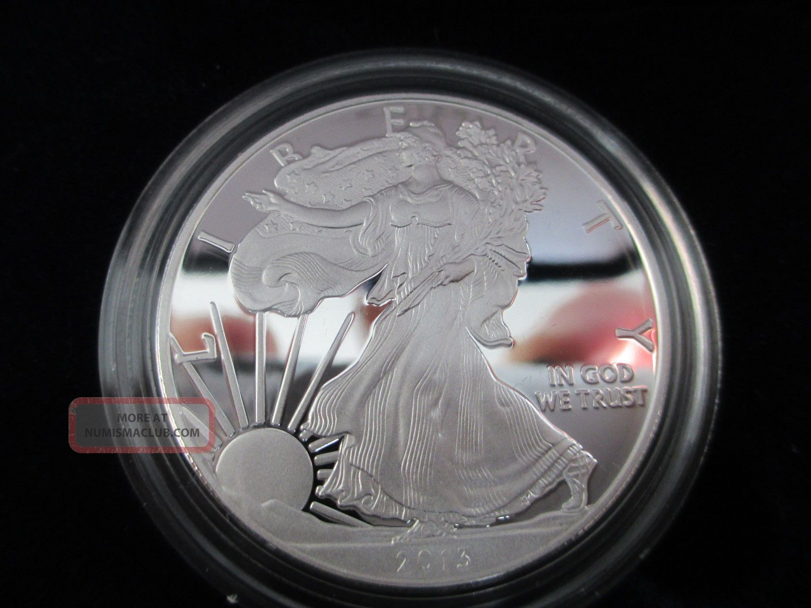 2013 Proof American Eagle One Ounce Silver West Point