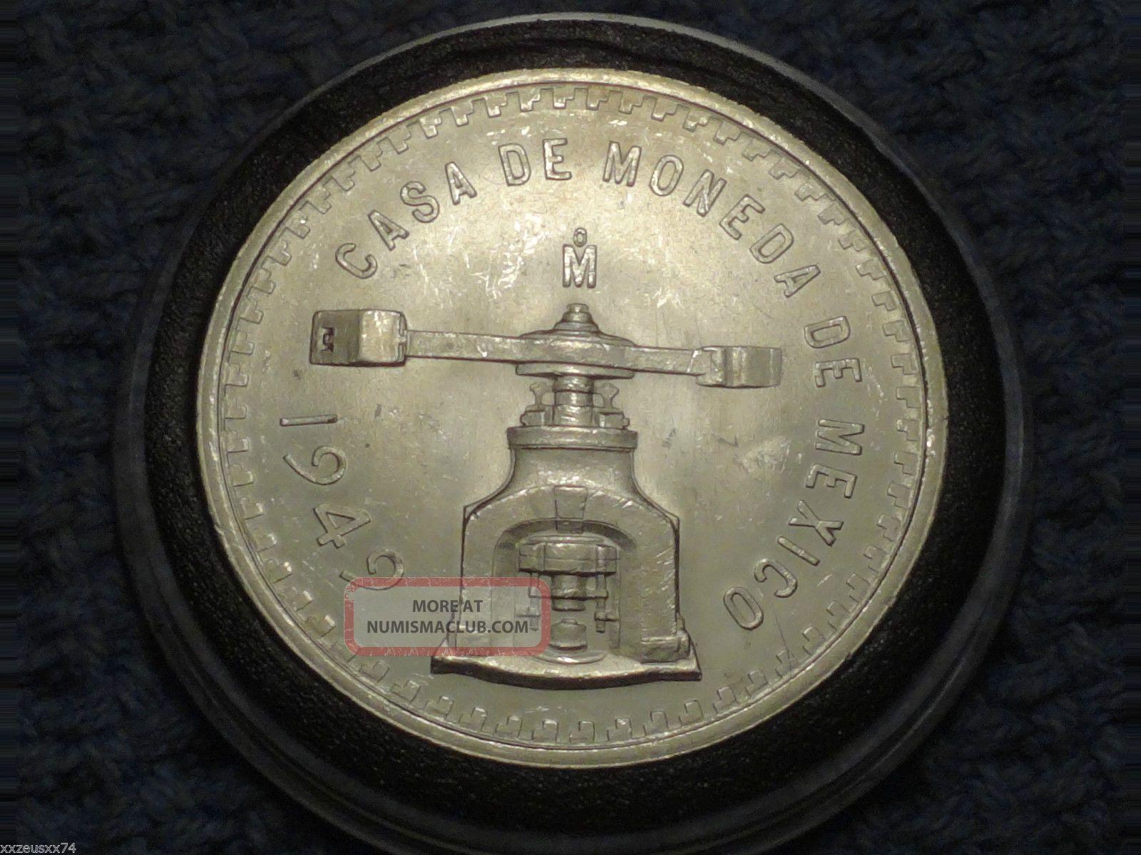 1949 Mo - Mexico Silver Onza Bullion Coin - Unc - Coin Press - 1 Troy