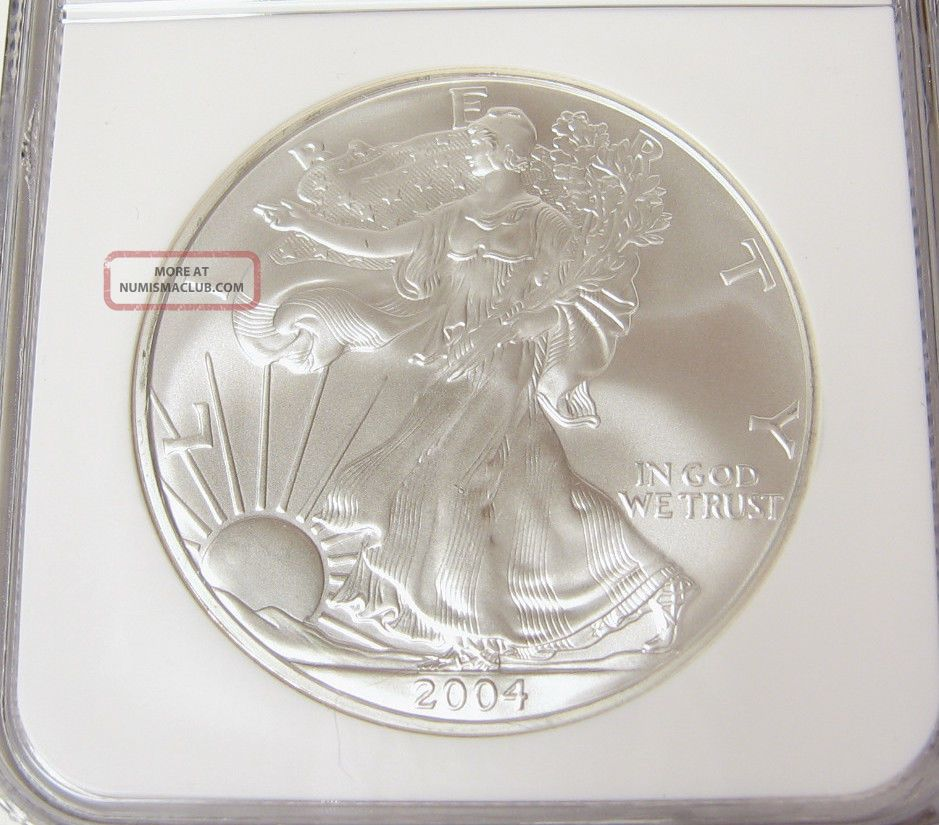 2004 P American Eagle Fine Silver Dollar One Ngc Ms 69