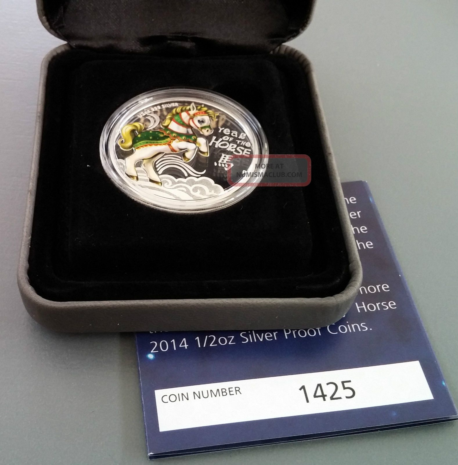 2014 Cook Islands 50c Silver (99.  9%) Proof Coin - Lunar Year Of The Horse Coins: World photo