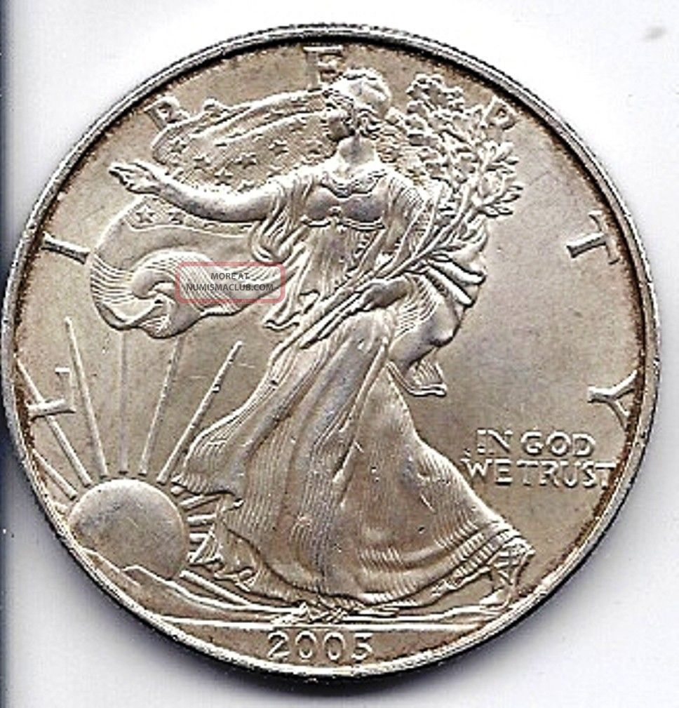 2005 American Eagle Walking Liberty 1 Oz Fine Silver