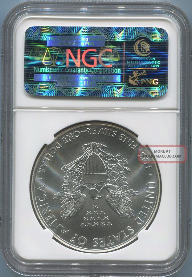 2012 1 Silver Eagle Early Releases Ngc Ms70