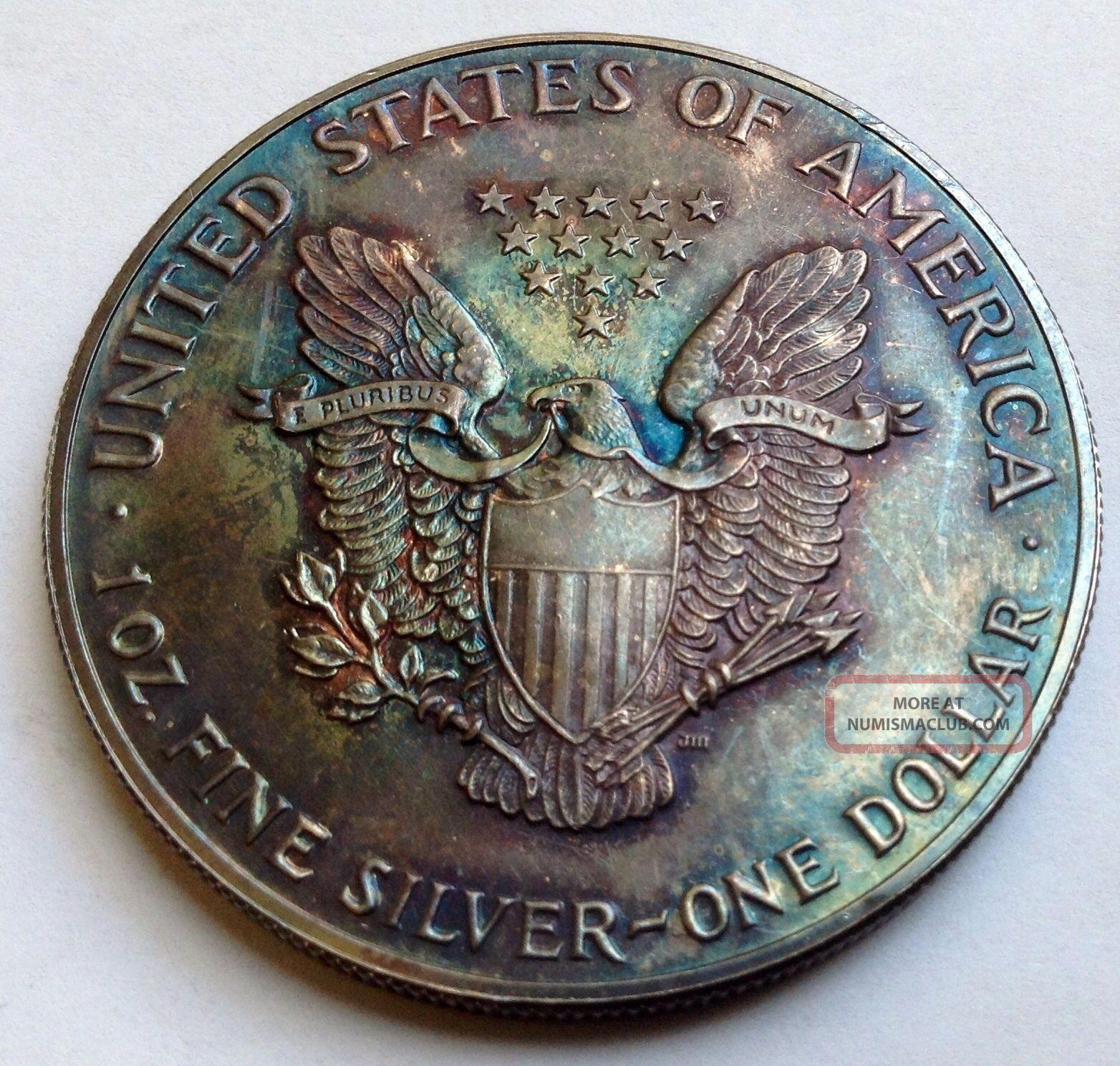 1987 American Silver Eagle 1oz Fine Silver 1 Coin