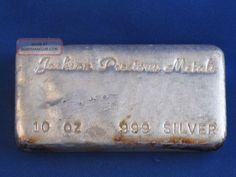 Jackson Precious Metals 999 10 Oz Ingot Poured B4153