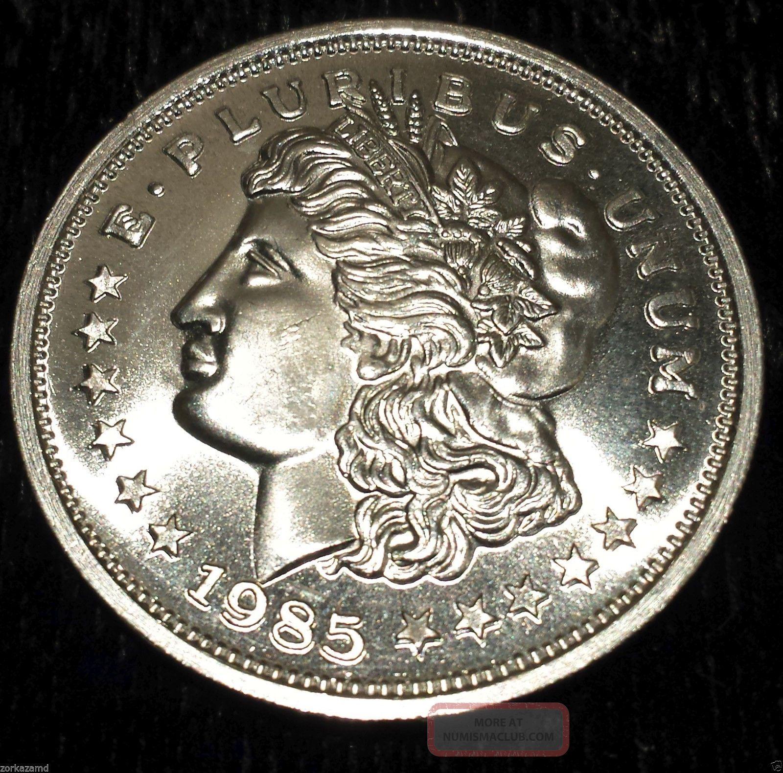 1985 Morgan 1 Troy Oz 999 Fine Silver Trade Unit Wtu26
