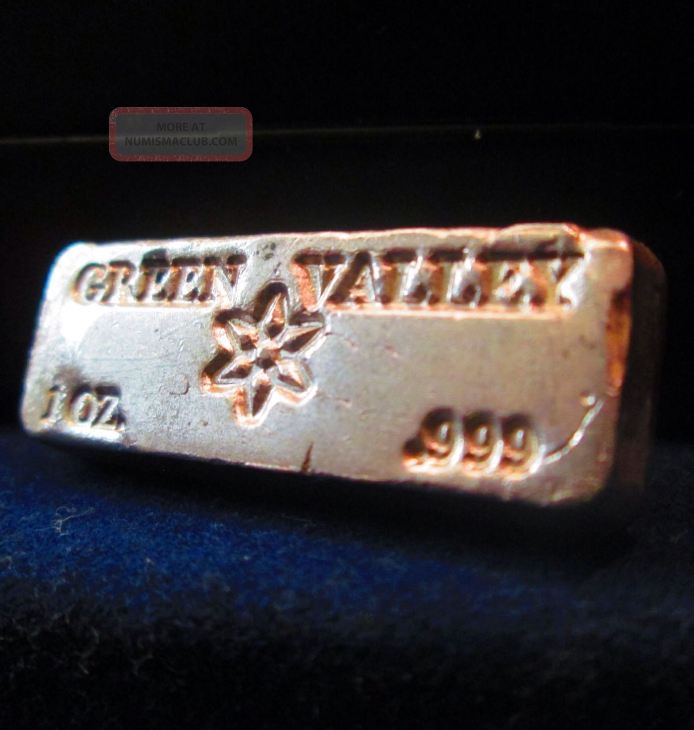 Green Valley 1 Oz 999 Silver Bar Rare Amp Unique Vintage