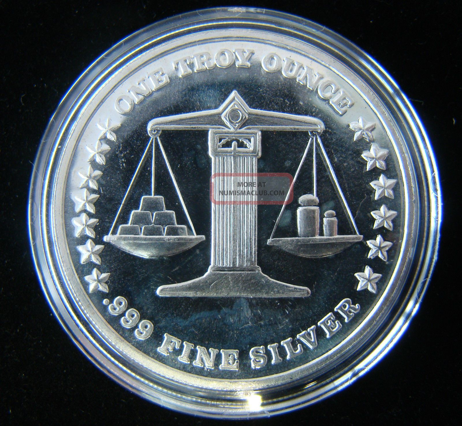 1986 Eagle International Trade Unit 999 Fine Silver 1