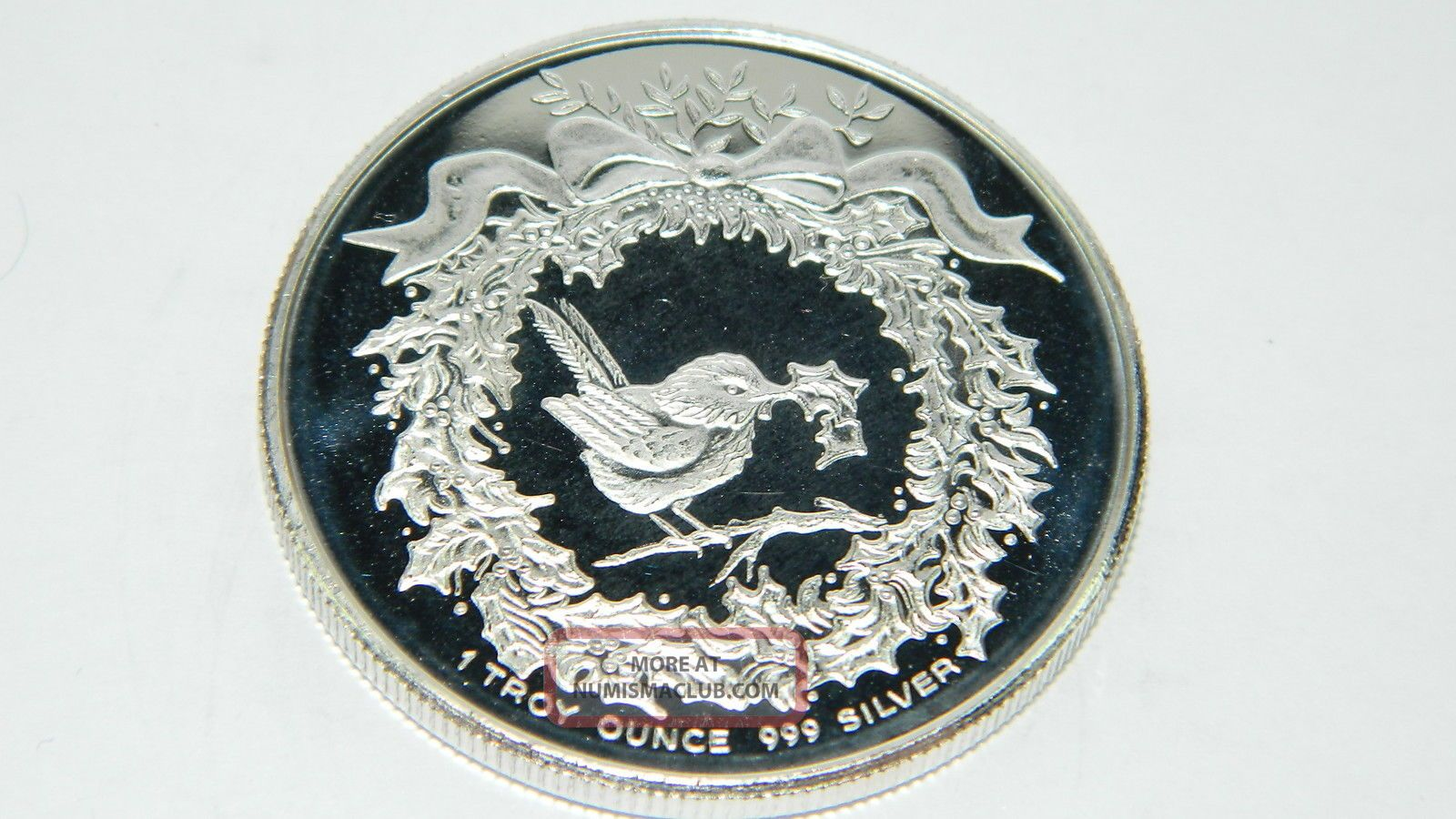 1991 Merry Christmas Santa Clause 1oz 999 Fine Silver Ag118