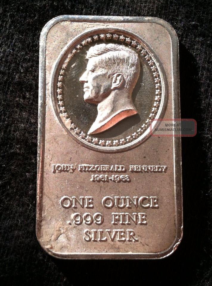 1961 1963 John F Kennedy Jfk 1 Ounce 999 Fine Silver