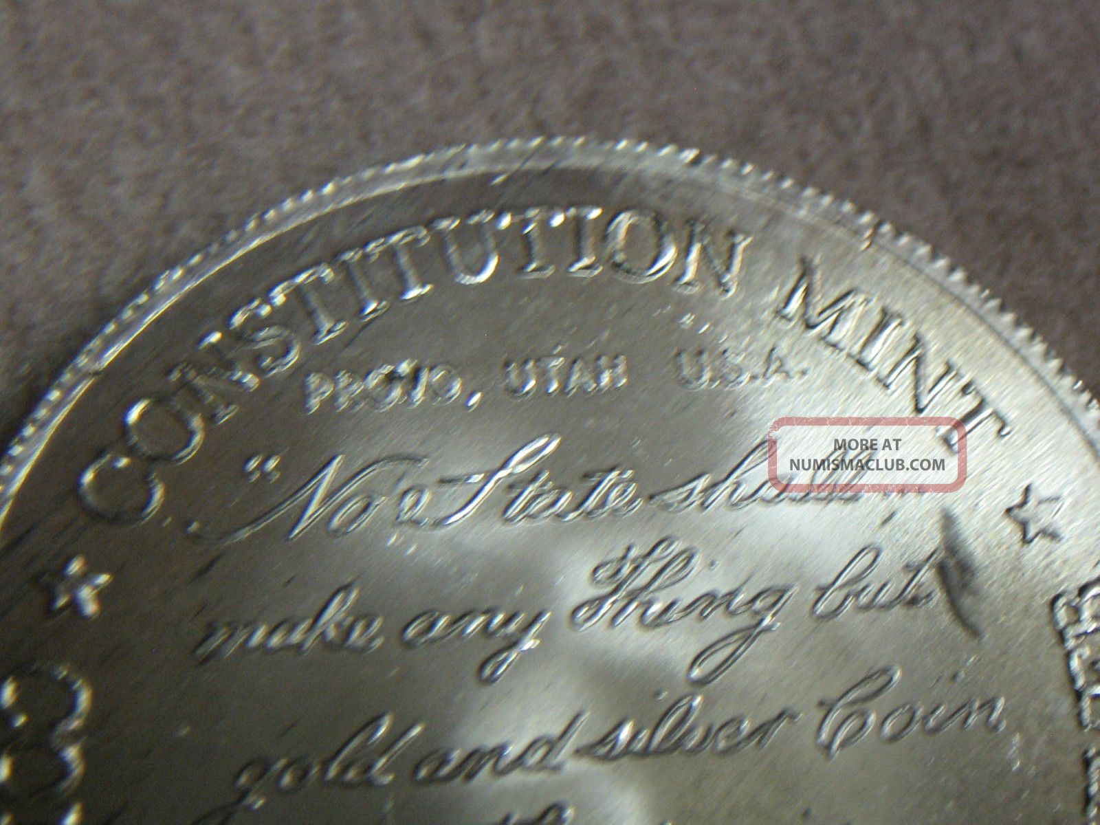 One Troy Ounce 1973 U S S Constitution Pure Silver Round