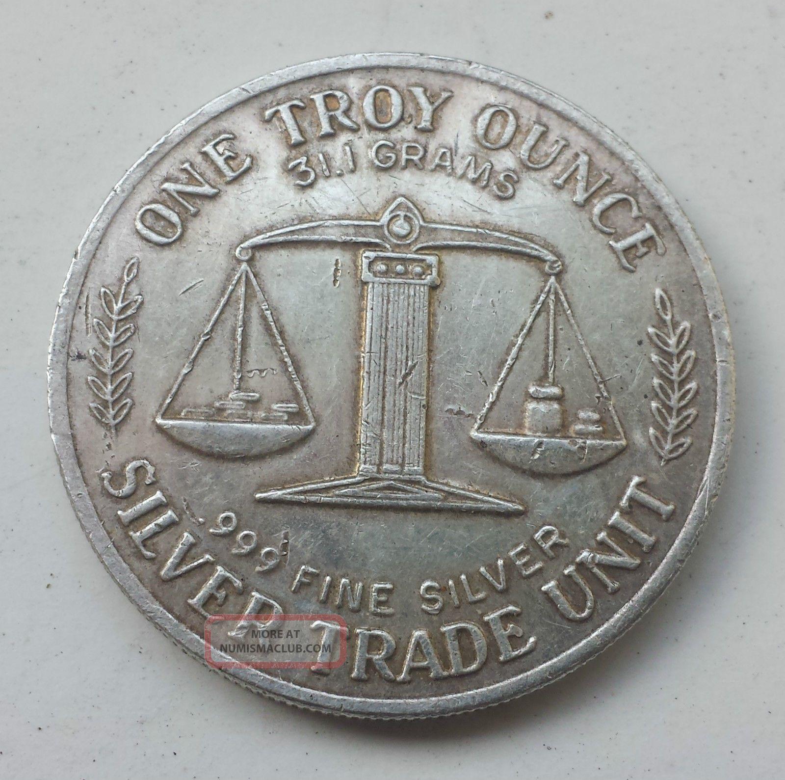 Silver Round Trade Unit 1 Troy Ounce 999 Fine E