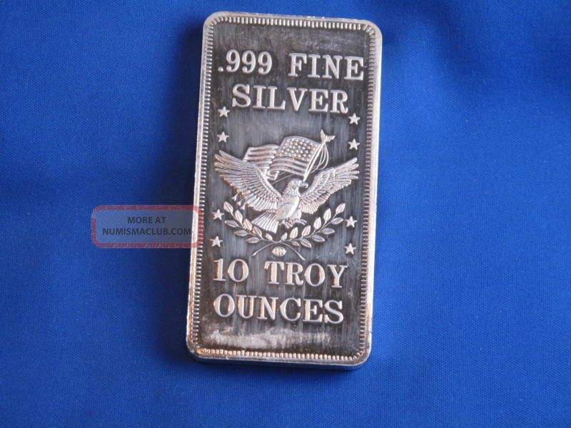 Apm 999 Silver 10 Oz Struck Ingot Bar B3310