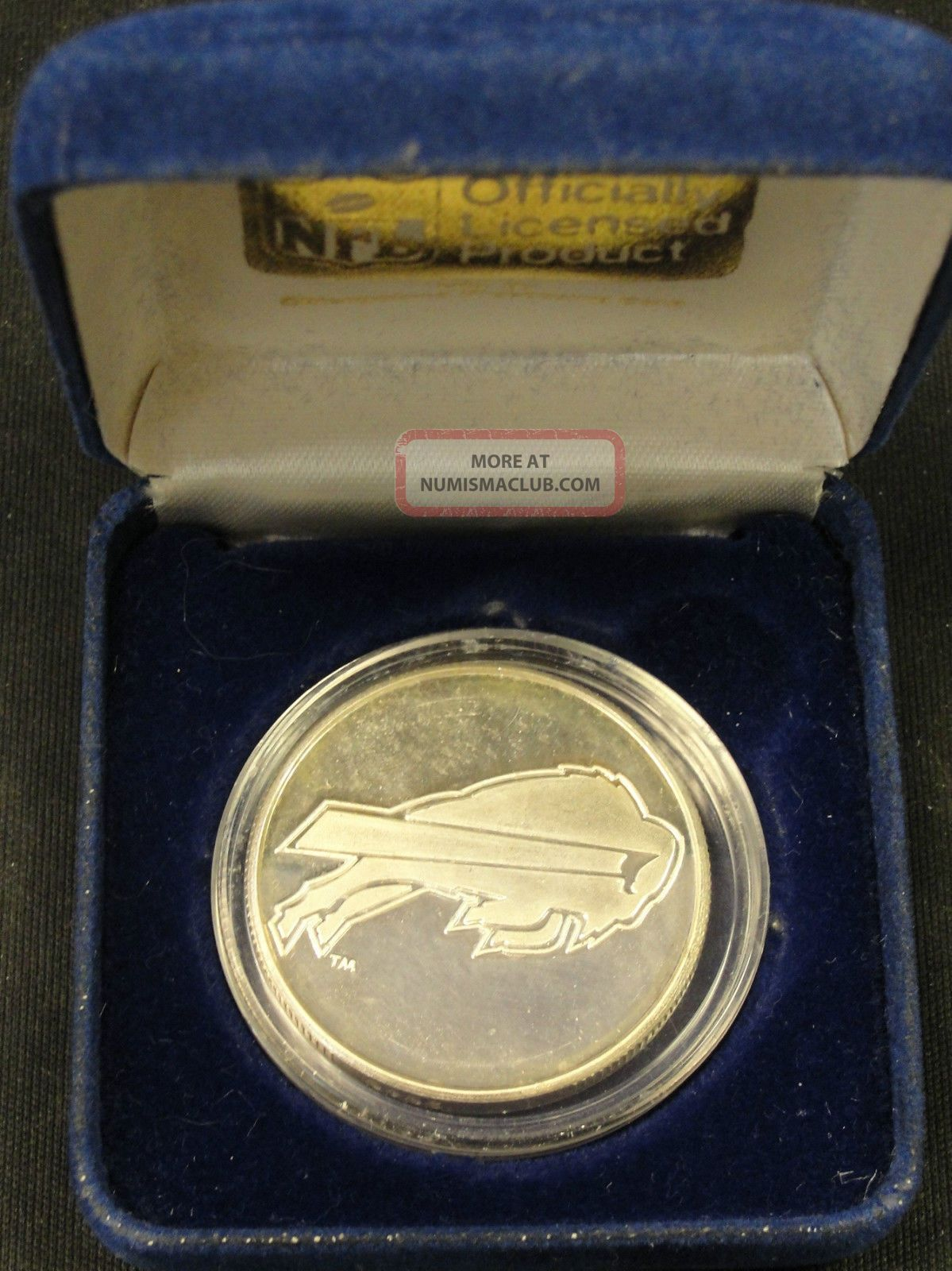 1990 Nfl Buffalo Bills Afc Champions Silver Coin 1 Troy Oz