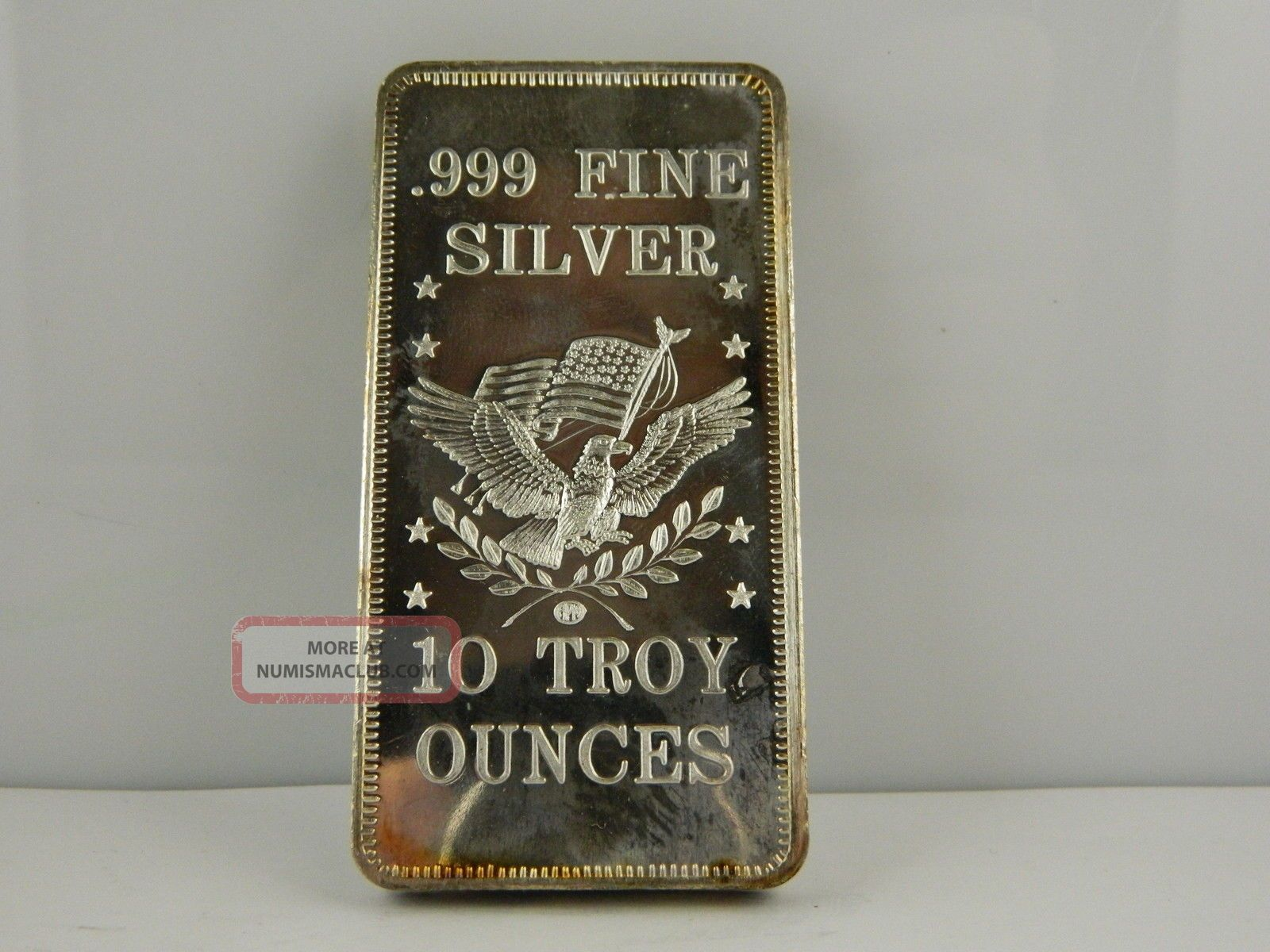 Amp 10 Troy Oz 999 Fine Silver Bar Gs121