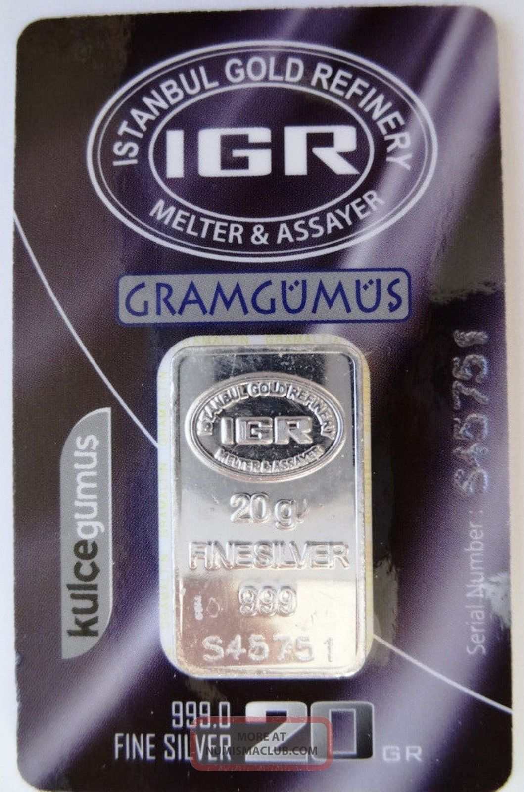 20 Gram 999 1000 Silver Ingot Silver Bullion Silver