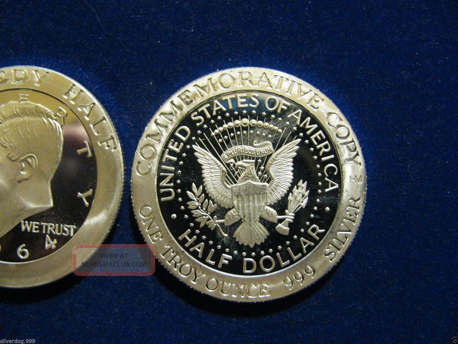 2014 Silver 1 Oz Kennedy Commemorative 999 Fine Rd