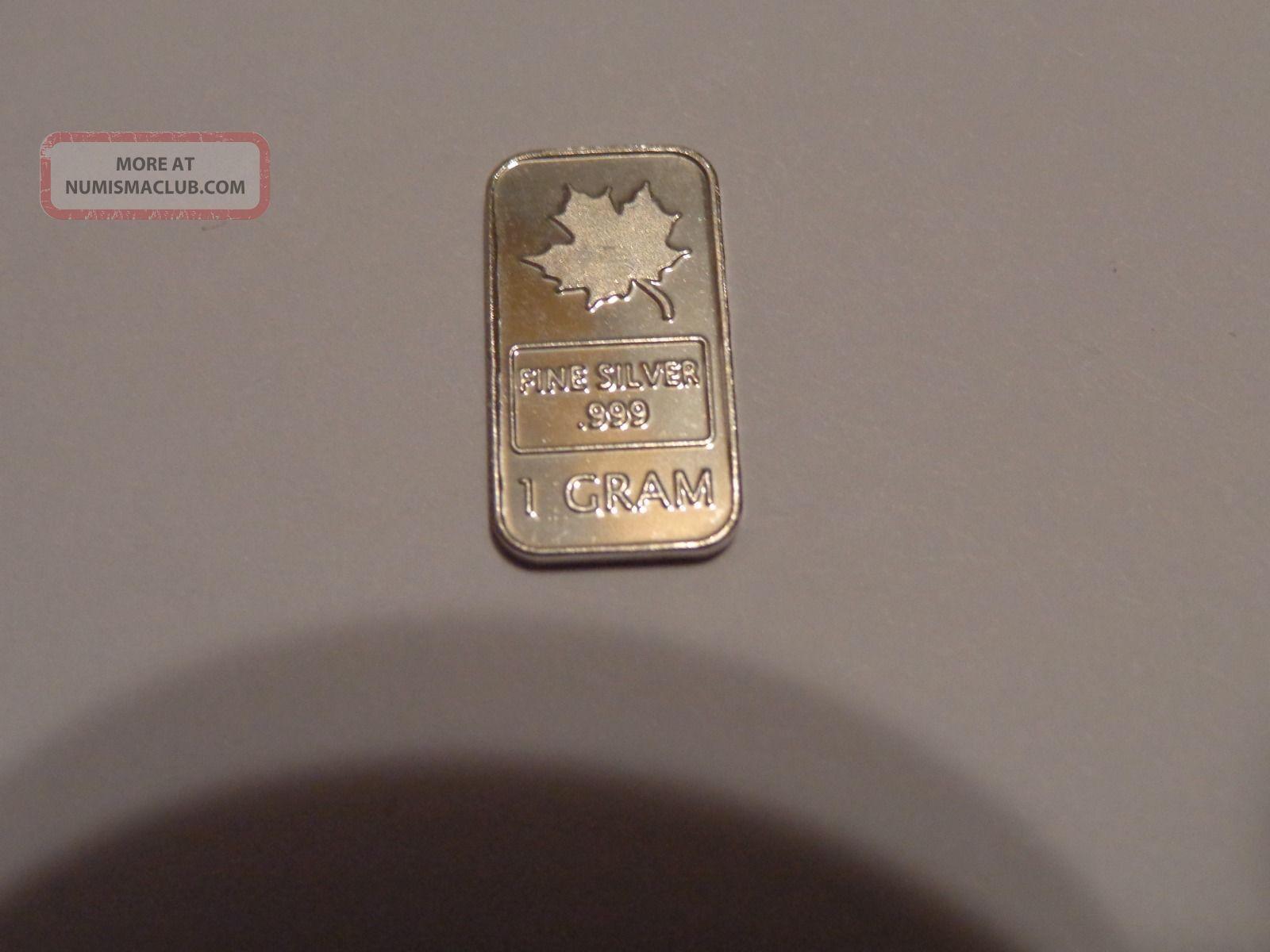 Silver Bar 1 Gram Bullion