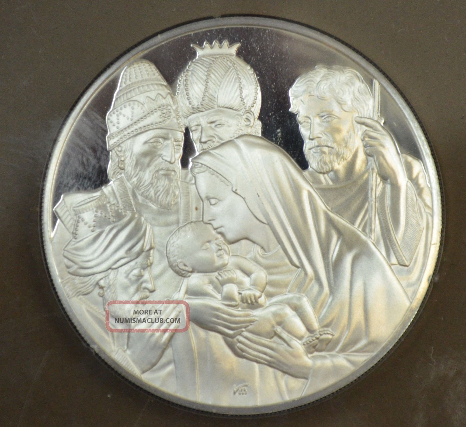 1972 Franklin Adoration Of The Magi Silver Proof Coin Box Cert