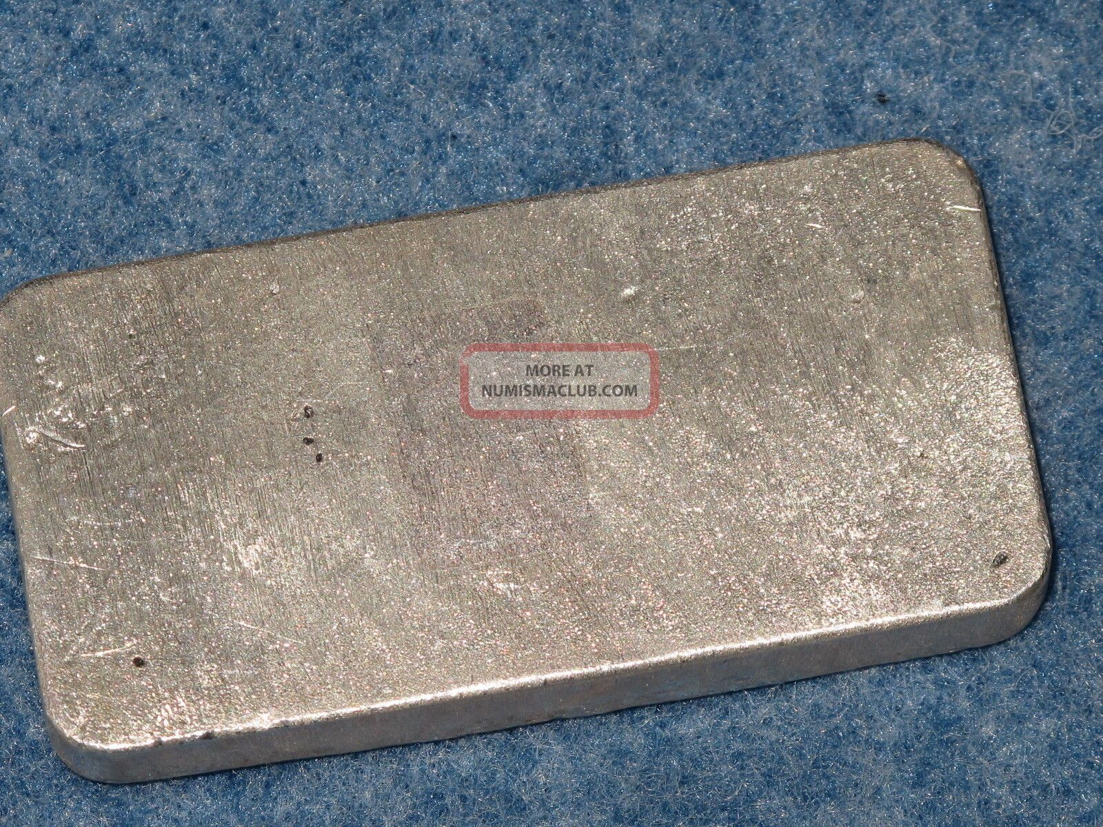 bache 999 silver 10 oz ingot bar old poured type b6961. Black Bedroom Furniture Sets. Home Design Ideas