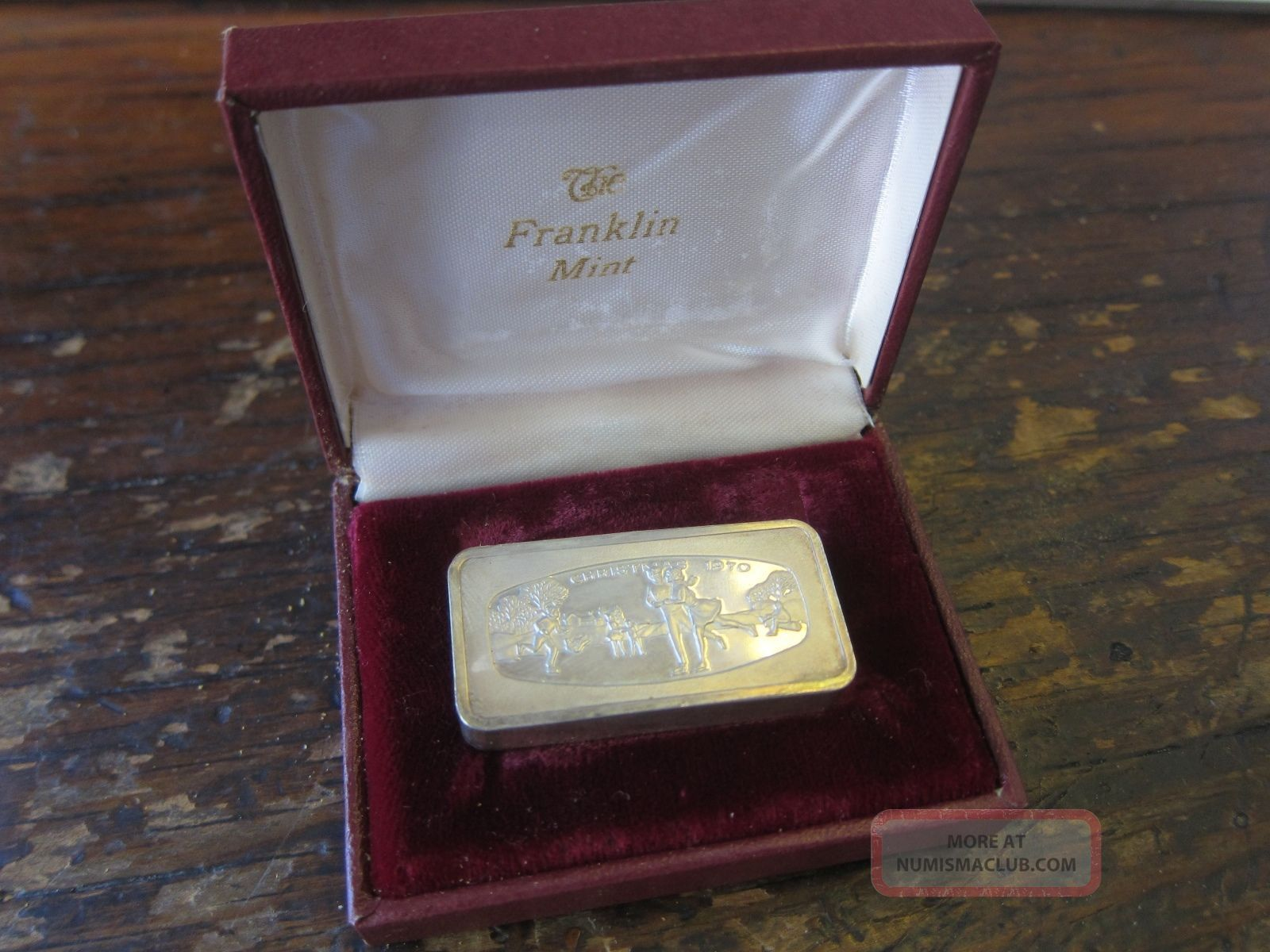 Silver Ingot 1970 Christmas Franklin First Year 1000