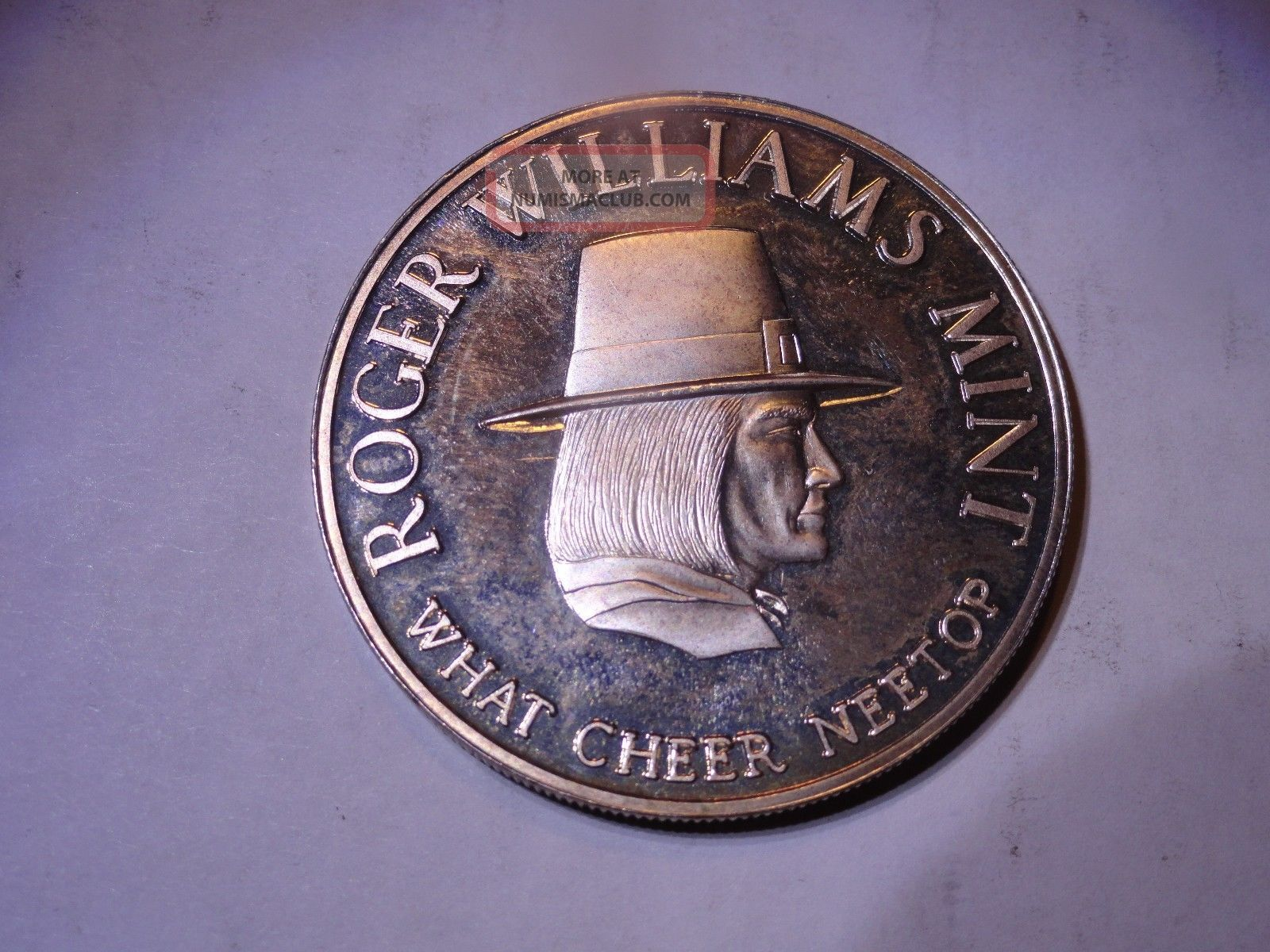 Roger Williams What Cheer Neetop World Trade 999 Silver 1