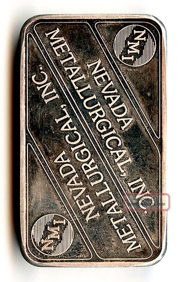 2002 Nevada Metallurgical Inc Nmi 5 Oz 999 Fine Silver