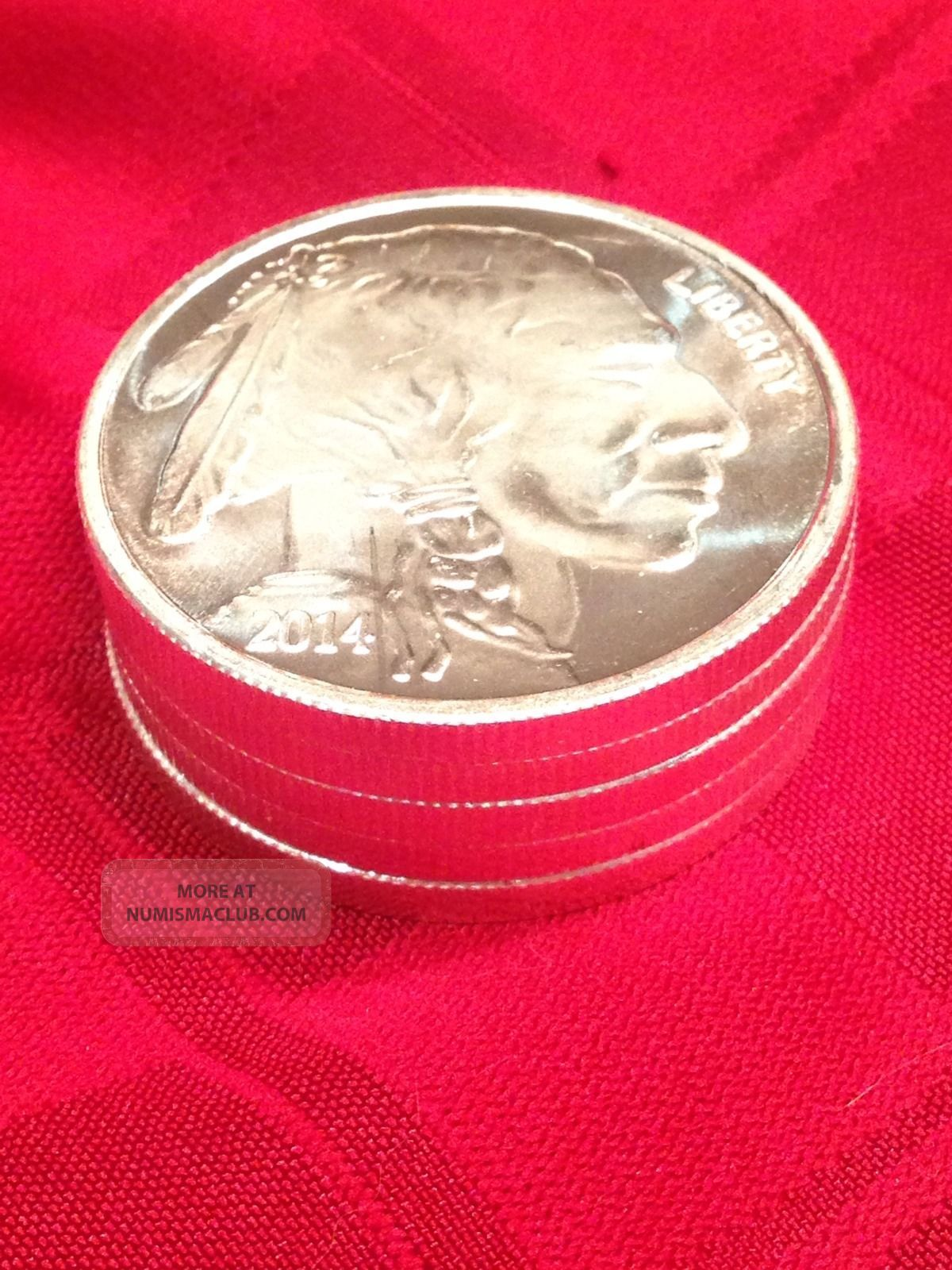 Indian Buffalo Head Round One Troy Ounce 999 Fine Silver
