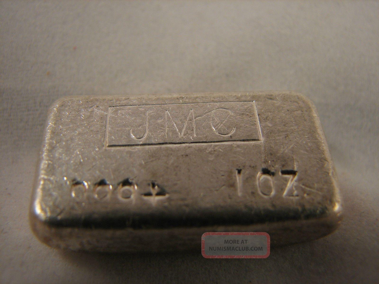 Sandon Bc Canada 1oz Hand Poured 999 Silver Bar Jmc