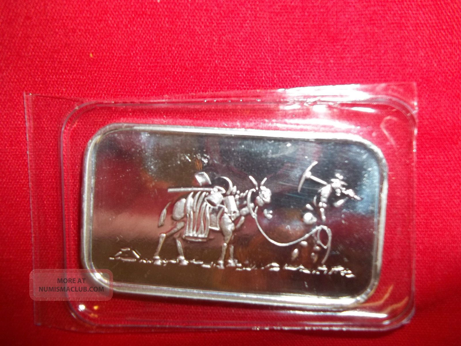 One Ounce 999 Fine Silver Bar Retro Silvertowne