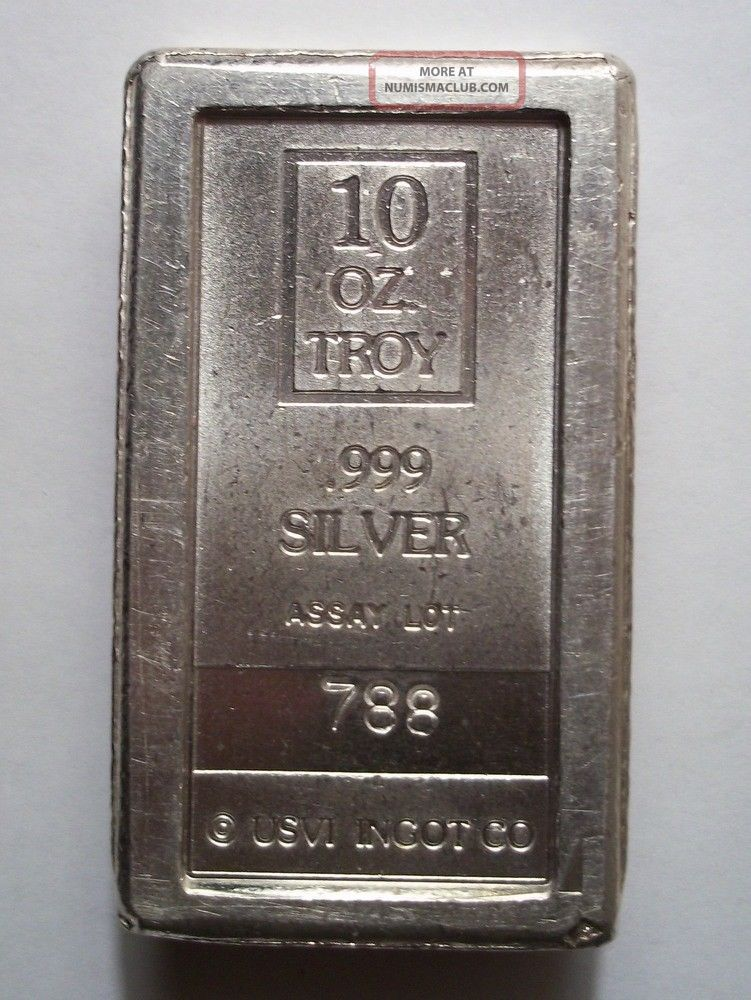10 Troy Oz Silver A Mark Brick Usvi Ingot Co Stackable