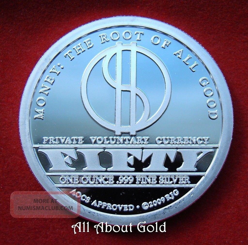 Solid Silver Round 1 Troy Oz John Galt Atlas Shrugged 999