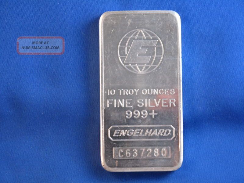 10 Troy Ounce Silver Bar Engelhard